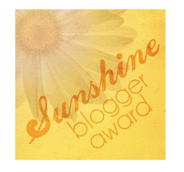 My First Nomination – Sunshine BloggerAward